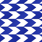 Blue and White Chevron Stripes