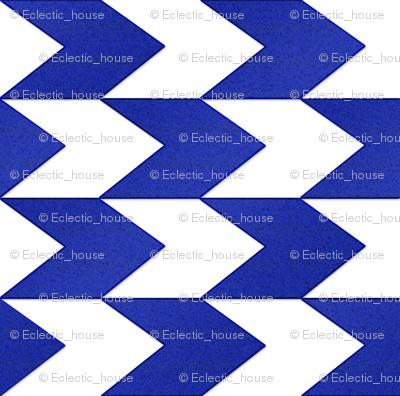 Blue and White Chevron Stripes
