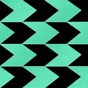 Turquoise and Black Chevron Stripes