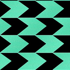 Turquoise and Black Chevron Stripes