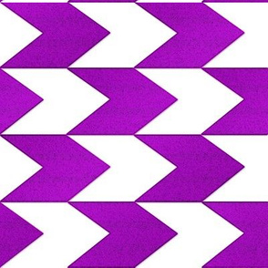 Purple and White Chevron Stripes