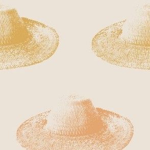sun hat - sandy peach