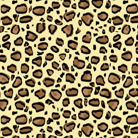 Leopard print fabric by jannasalak on Spoonflower - custom fabric