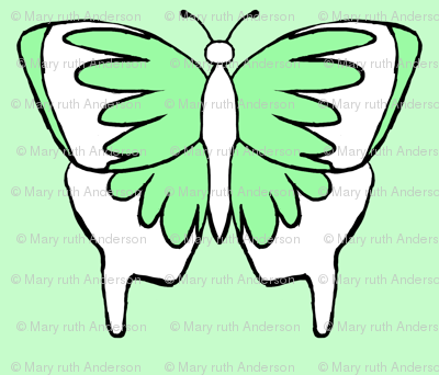 Butterfly 1- Green