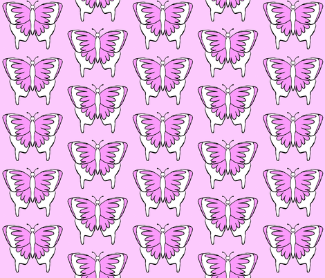 Butterfly 1- Purple fabric by essieofwho on Spoonflower - custom fabric