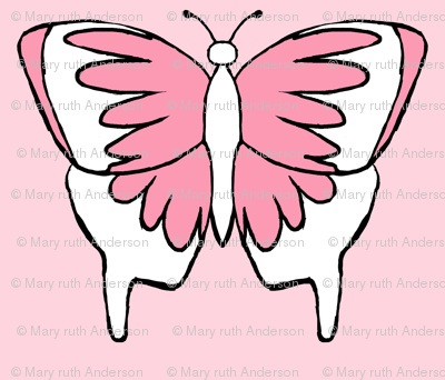 Butterfly 1- Pink