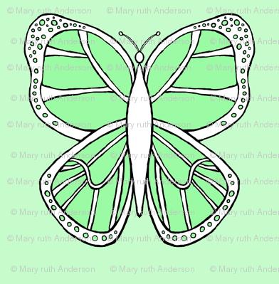 Butterfly 2- Green