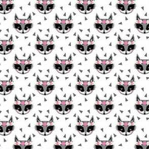 raccoon flower crown fabric