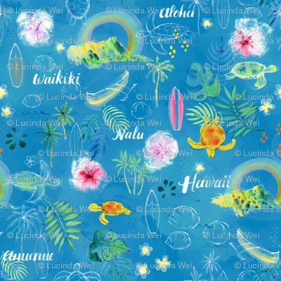 Rainbows in Hawaii Blue - © Lucinda Wei