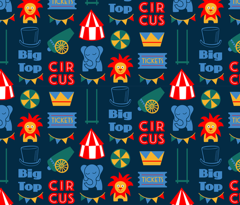 Big Top Baby fabric by dearchickie on Spoonflower - custom fabric