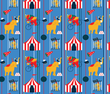 The Circus is Coming fabric by whyitsme_design on Spoonflower - custom fabric