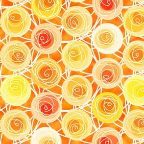 renne's roses in gold