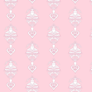Feather Damask- Pink