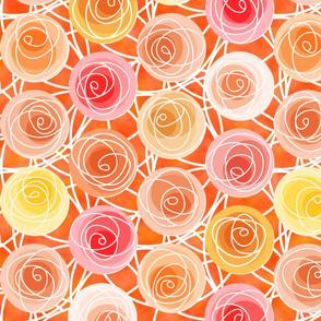 renne's roses in orange