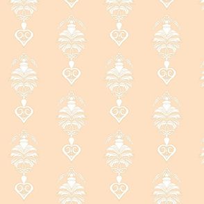 Feather Damask- Peach