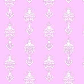Flower Damask- Purple