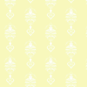 Feather Damask- Yellow