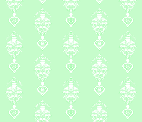 Feather Damask- Green fabric by essieofwho on Spoonflower - custom fabric