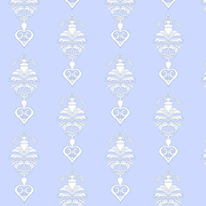 Feather Damask- Blue