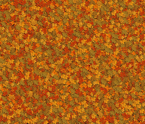 leaves fabric by lecarver on Spoonflower - custom fabric