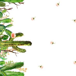 """1 Repeat Per Yard of 56"""" fabric / Cactus Garden / Repeat Print"""