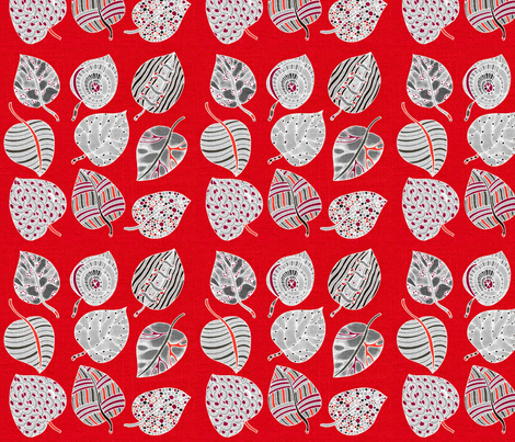 All the leaves are Grey fabric by floramoon on Spoonflower - custom fabric