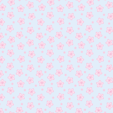 Tiny Sakura Cherry Blossoms fabric by marcelinesmith on Spoonflower - custom fabric