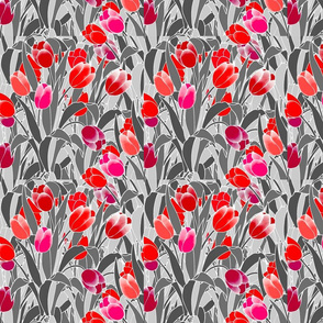 Tulips in Grey