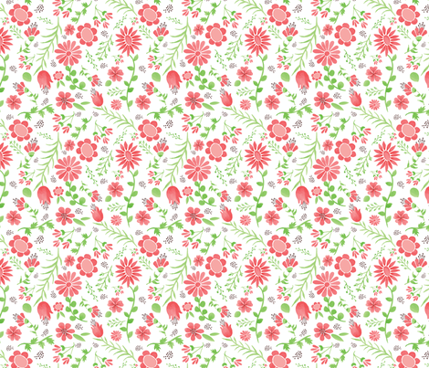 wild garden love partial shade fabric by margiecampbellsamuels on Spoonflower - custom fabric