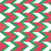 Watermelon Chevron Arrow Stripe