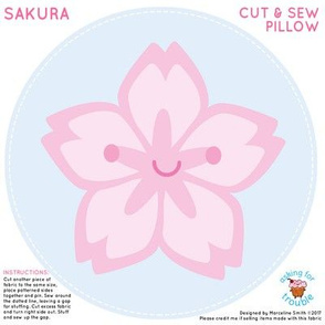 Sakura Cherry Blossom Mini Pillow