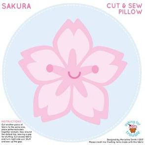 Sakura Cherry Blossom Mini Pillow