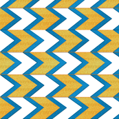 Lemon Blueberry Chevron Arrow Stripe