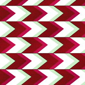 Lime Raspberry Chevron Arrow Stripe