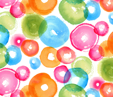 Large Watercolor Circles fabric by acappellasoundschorus on Spoonflower - custom fabric