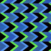 Lime Blueberry Chevron Arrow Stripe