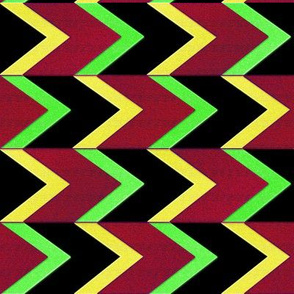 Cherry Lemon Lime Chevron Arrow_Stripe
