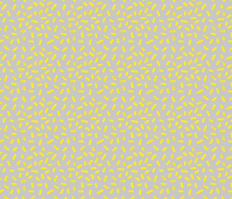 Yellow_sprinkles fabric by nikalola on Spoonflower - custom fabric