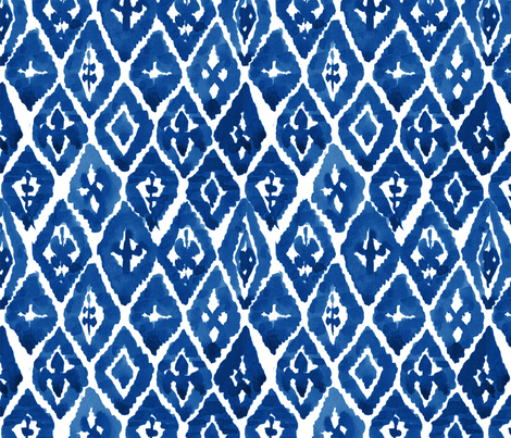 Island Blue Diamonds - Large fabric by laurapol on Spoonflower - custom fabric