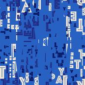 letter play - azul blue