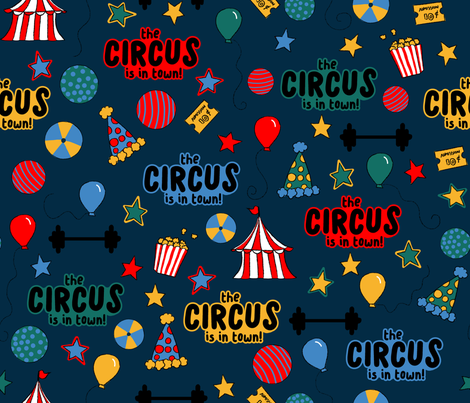 The Circus is in Town fabric by mgdoodlestudio on Spoonflower - custom fabric