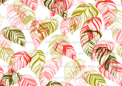 summer_leaves-pink_and_green