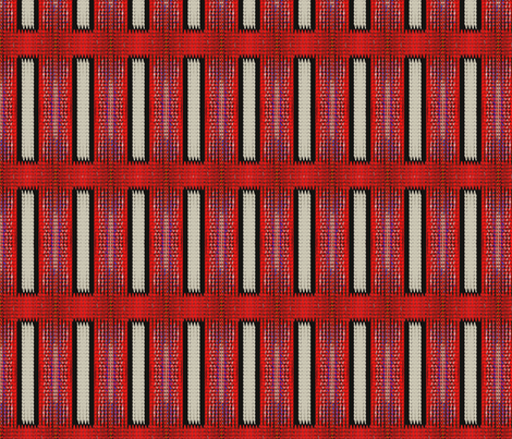Grosgrain Runner (Red) fabric by david_kent_collections on Spoonflower - custom fabric