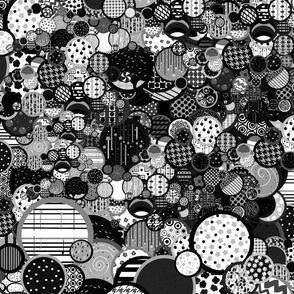 Rain Game Pattern Black and White