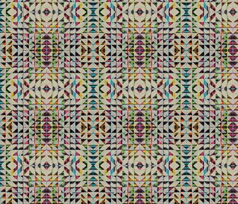 NY1203 Cream Triangles fabric by jennifersanchezart on Spoonflower - custom fabric