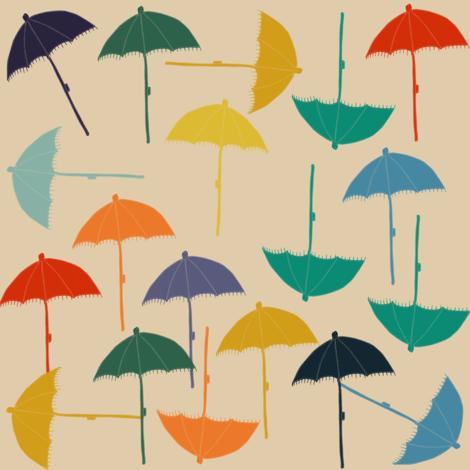 sun umbrellas fabric by bruxamagica on Spoonflower - custom fabric