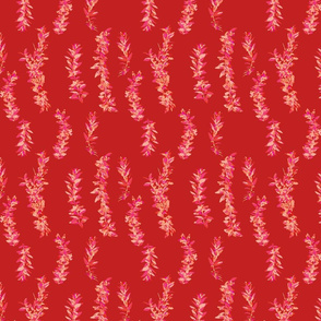 lei strands - red pink