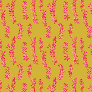 lei strands - gold -pink