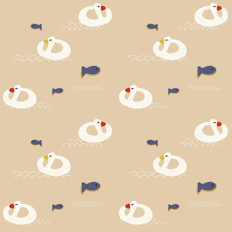 Duck buoy  fabric by bruxamagica on Spoonflower - custom fabric