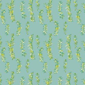 lei strands - aqua-green